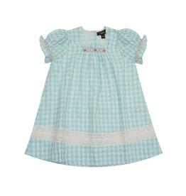 Velveteen serena dress - gingham cotton