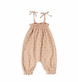 Rylee and Cru bubble jumpsuit- blush cross