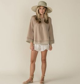 Rylee and Cru kalo blouse- sand