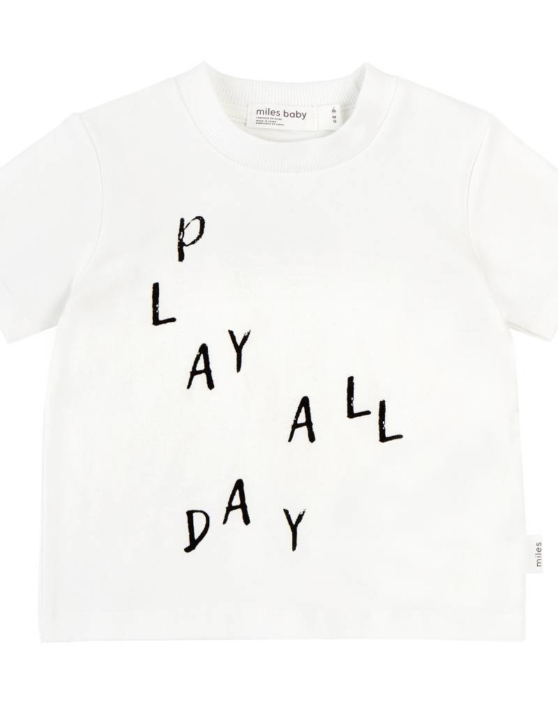 Miles Baby play all day tee