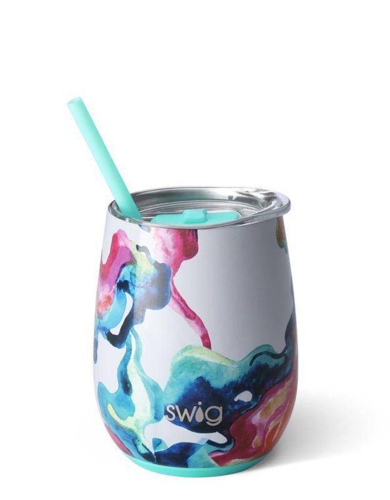 Swig 14oz stemless wine- color swirl