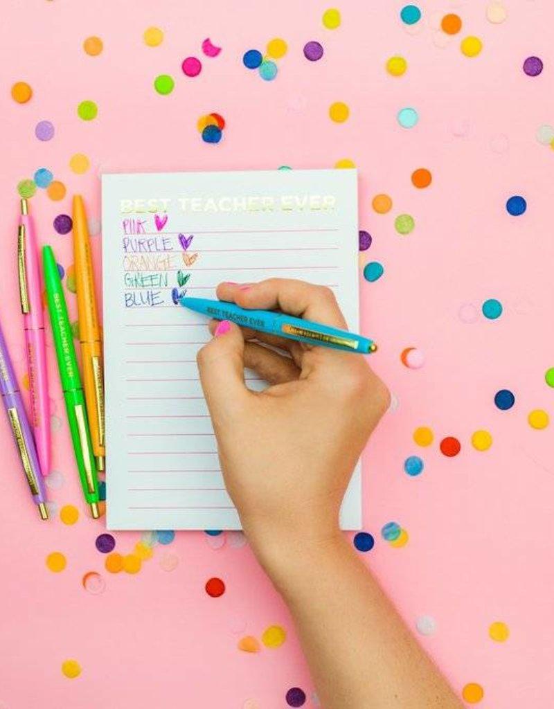 Taylor Elliott Designs best teacher ever pen set