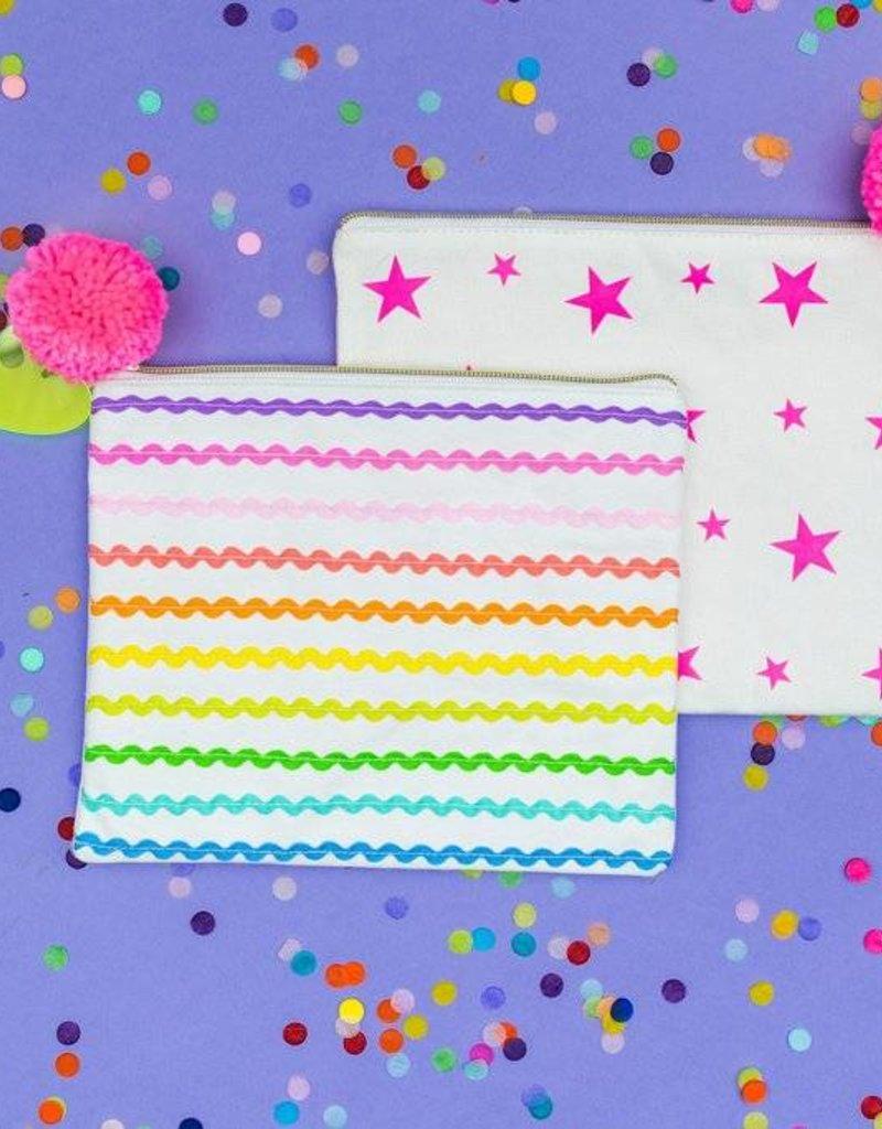 Taylor Elliott Designs ric rac ribbon pouch