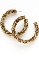 Ink + Alloy seed hoop earrings- gold