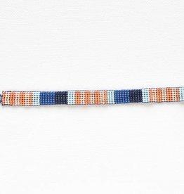 Ink + Alloy petite seed bracelet- lapis