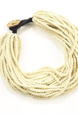 Ink + Alloy layer seed bracelet- ivory