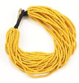 Ink + Alloy layer seed bracelet- mustard