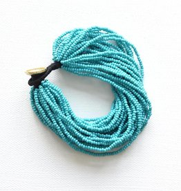 Ink + Alloy layer seed bracelet- turquoise