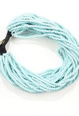 Ink + Alloy layer seed bracelet- light blue