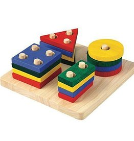 Plan Toys geometric sorting board