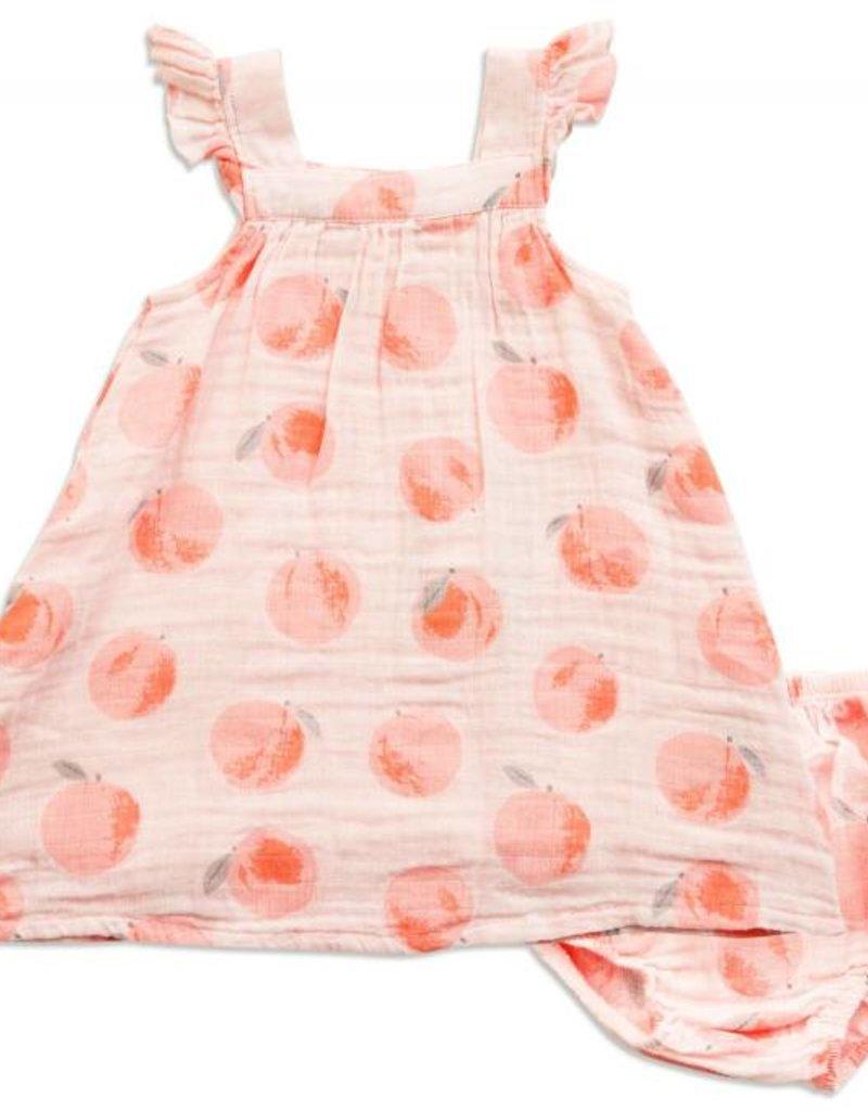 Angel Dear peachy sundress set