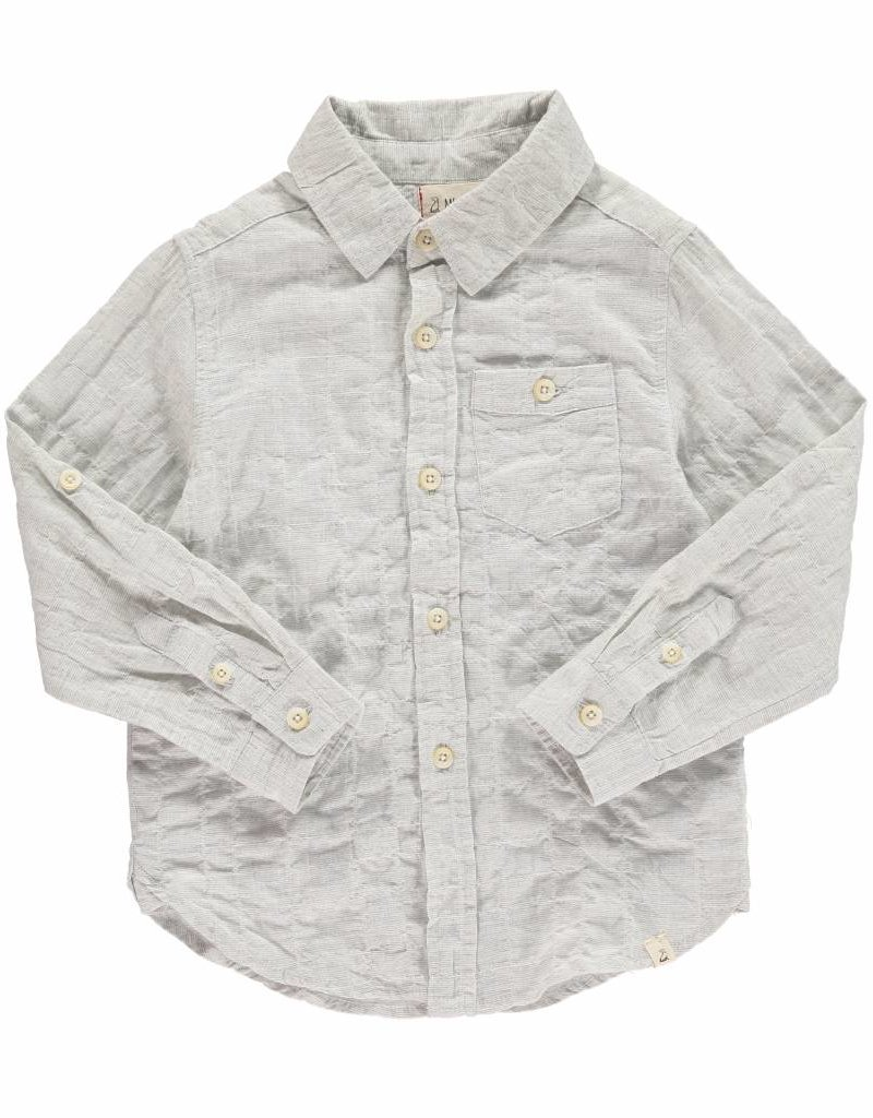 Me & Henry l/s button down- grey