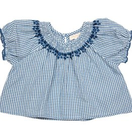 Pink Chicken elle top- blue gingham
