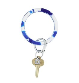 Big O Key Ring blue me away marble silicone