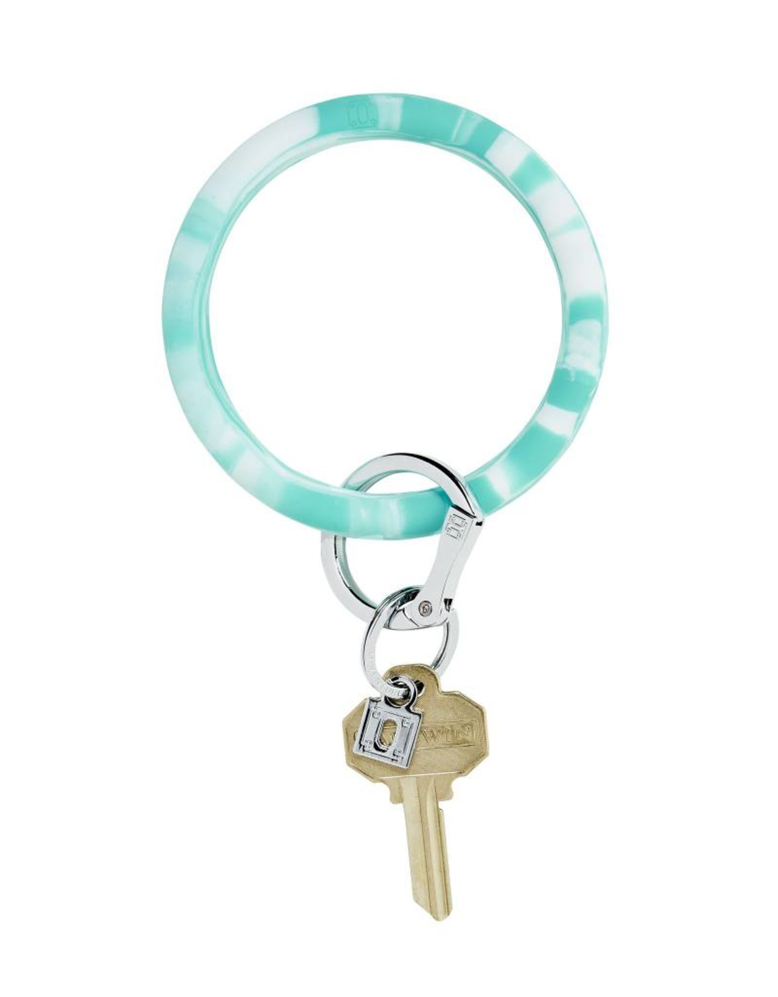 Big O Key Ring in the pool marble silicone