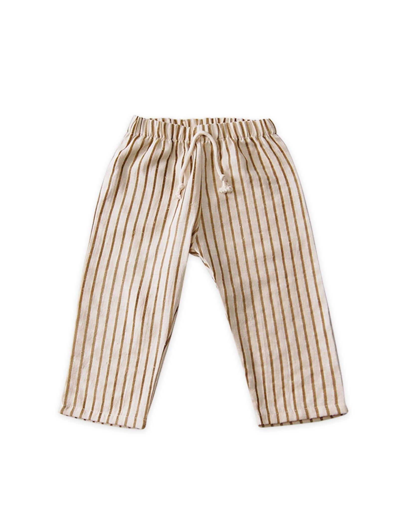 Go Gently Nation lawn pant- fennel stripe