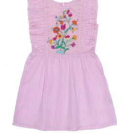 Coco and Ginger baby viola dress- stripe pink