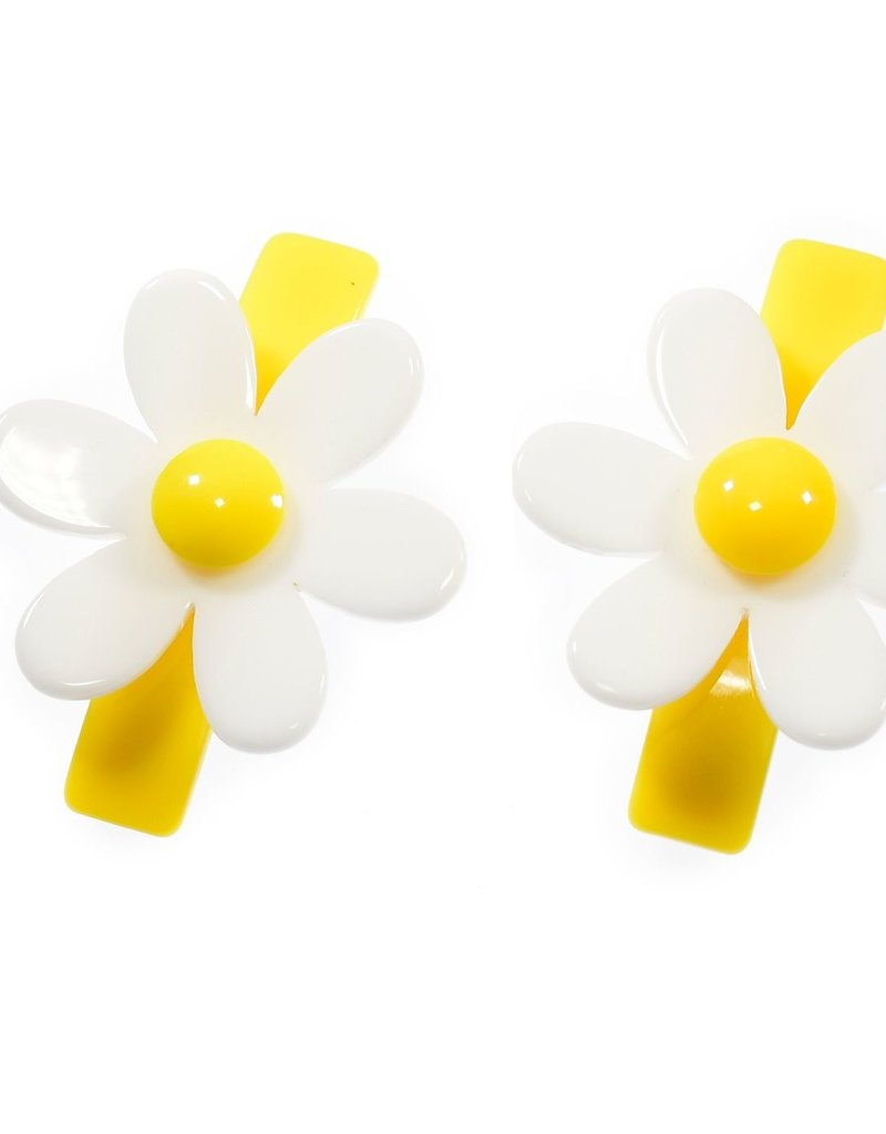 Lilies & Roses yellow daisy hairclips