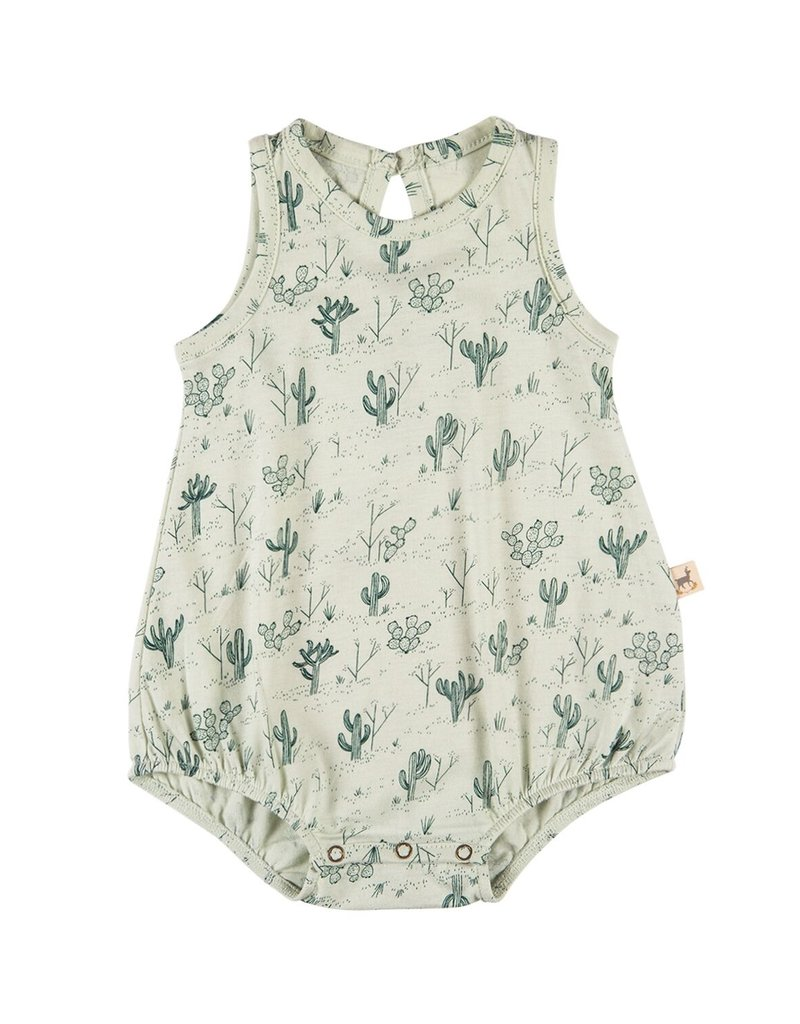 Red Caribou baggy onesie- cacti green