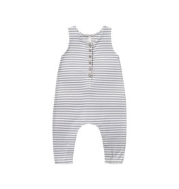Quincy Mae sleeveless jumpsuit- grey stripe