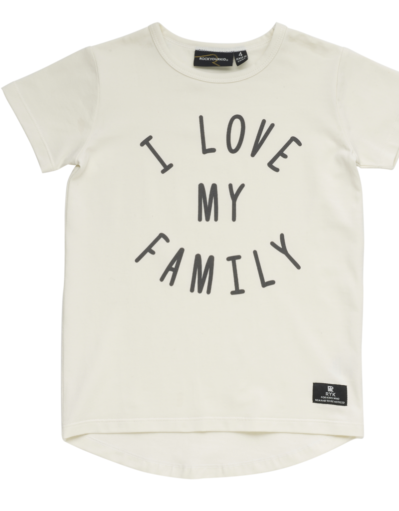 Rock Your Baby i love my family tee