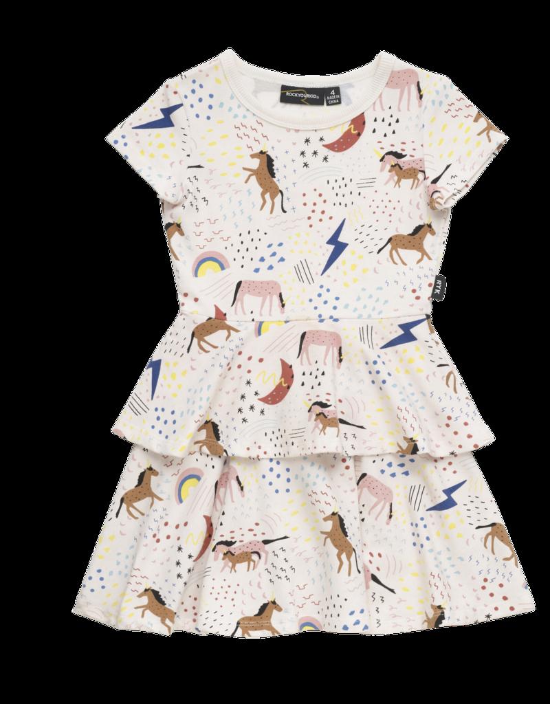 Rock Your Baby unicorn rainbow dress