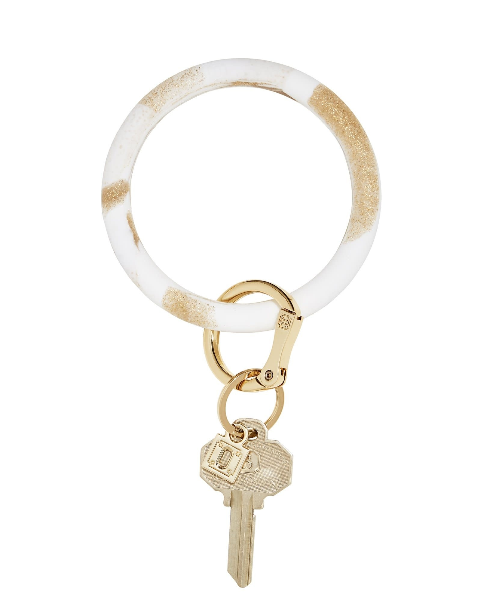 Big O Key Ring gold rush marble silicone