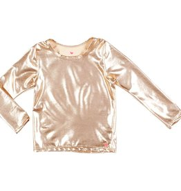 Pink Chicken rash guard- rose gold