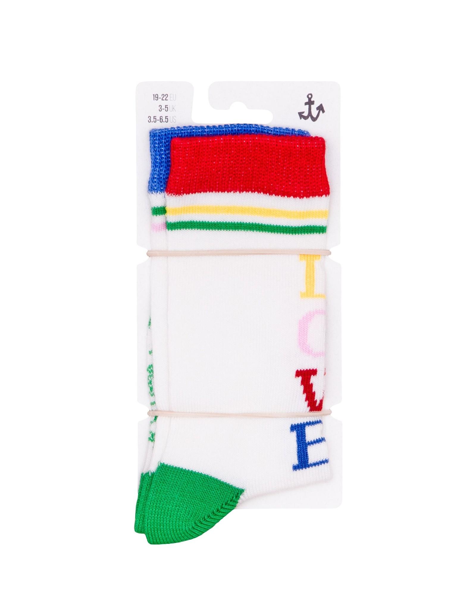 Noé & Zoë crew socks- rebel love