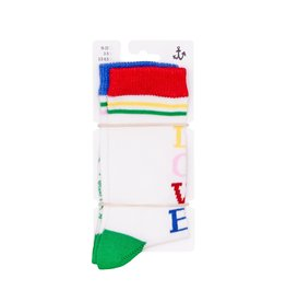 Noé & Zoë crew socks- rebel love