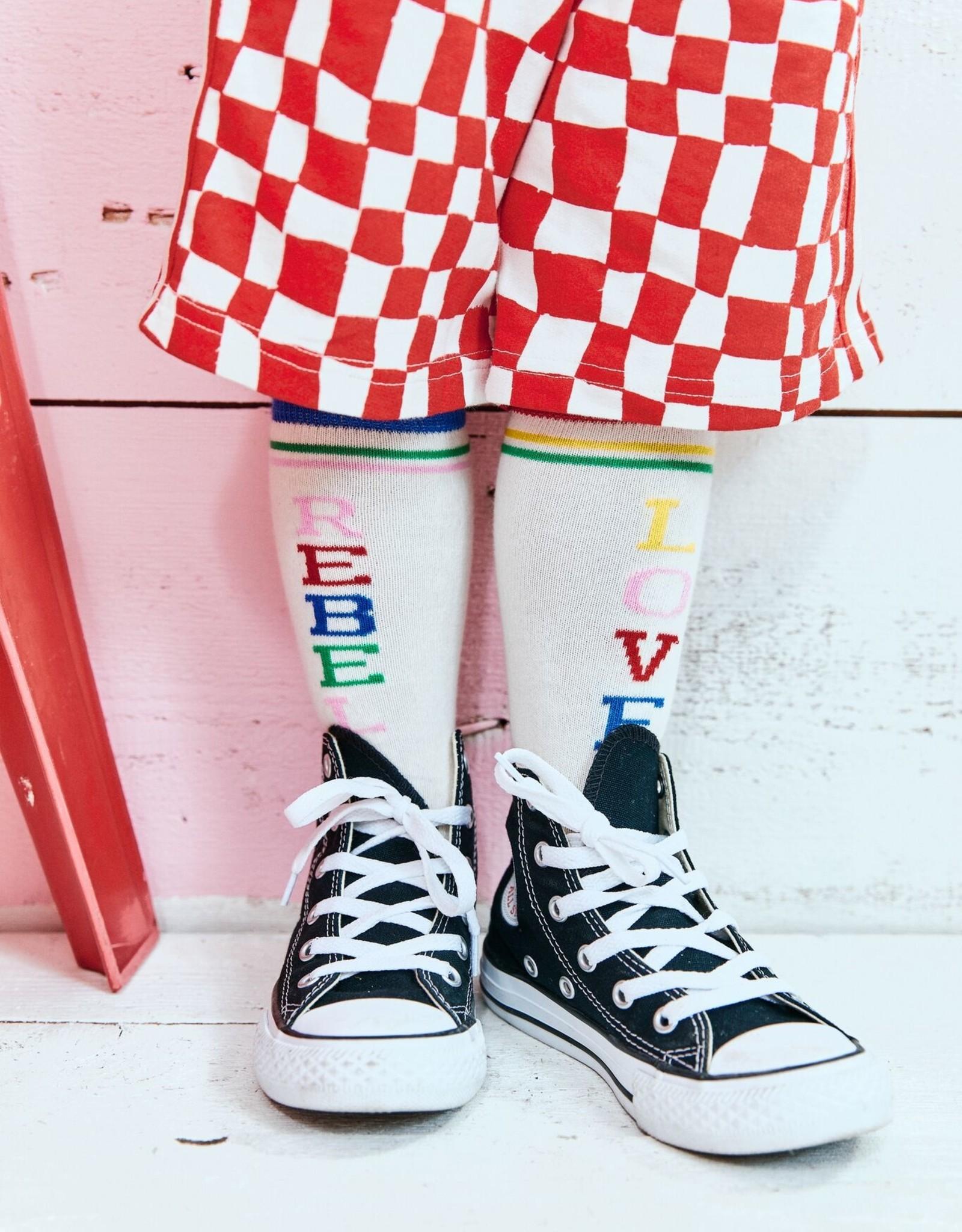 crew socks- rebel love