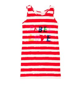 Noé & Zoë tank dress- red stripes