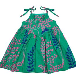 Pink Chicken monroe dress- green fern