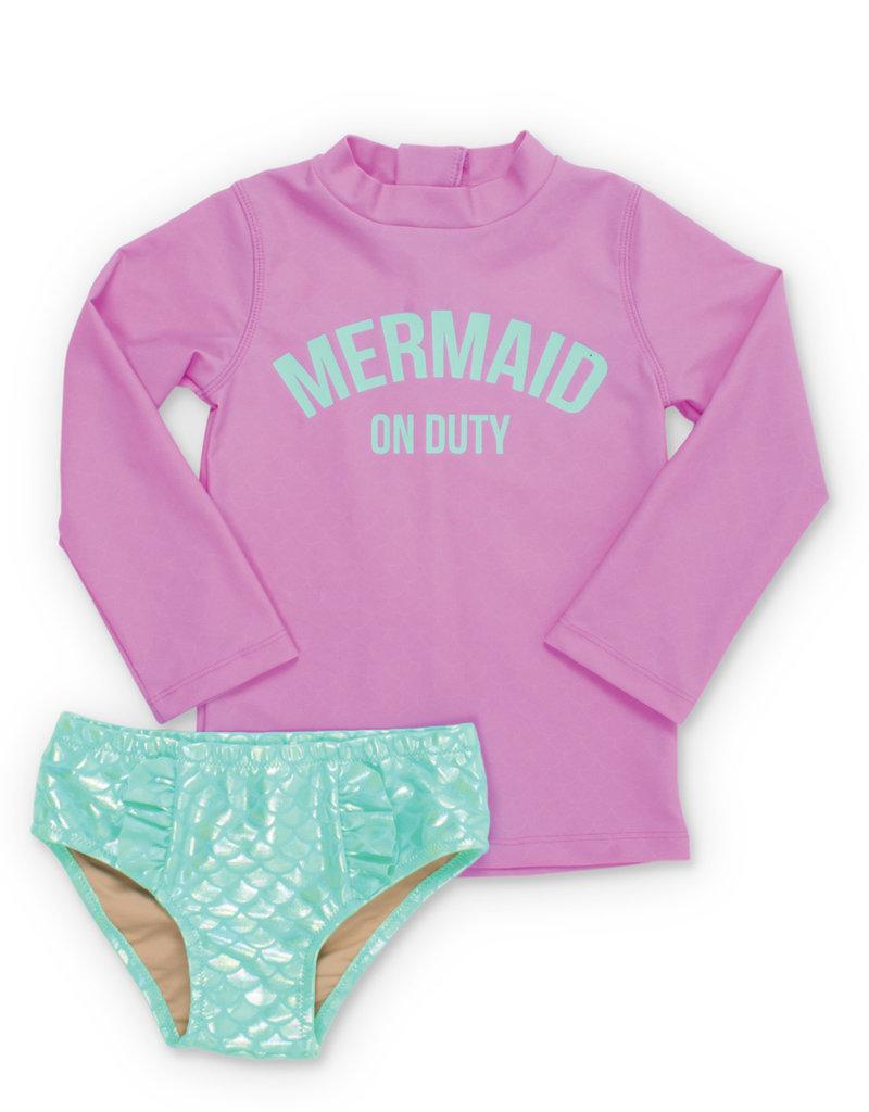 Shade Critters mermaid rashguard set