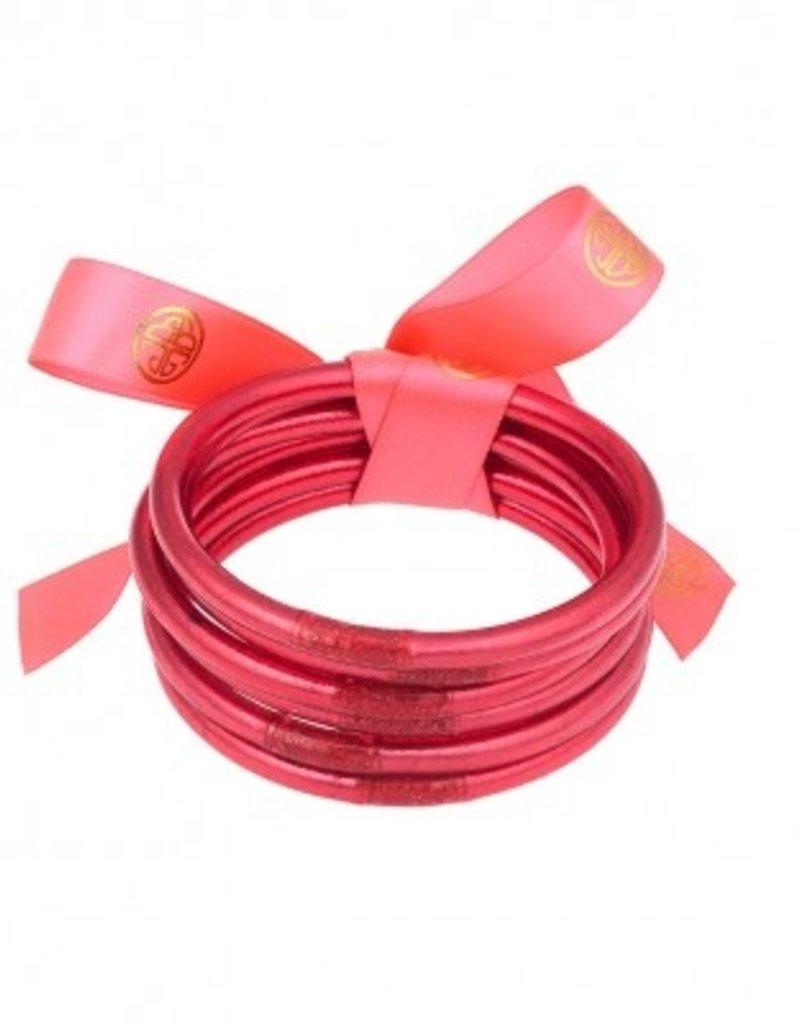 BuDhaGirl bangles (set of 6)- pink large