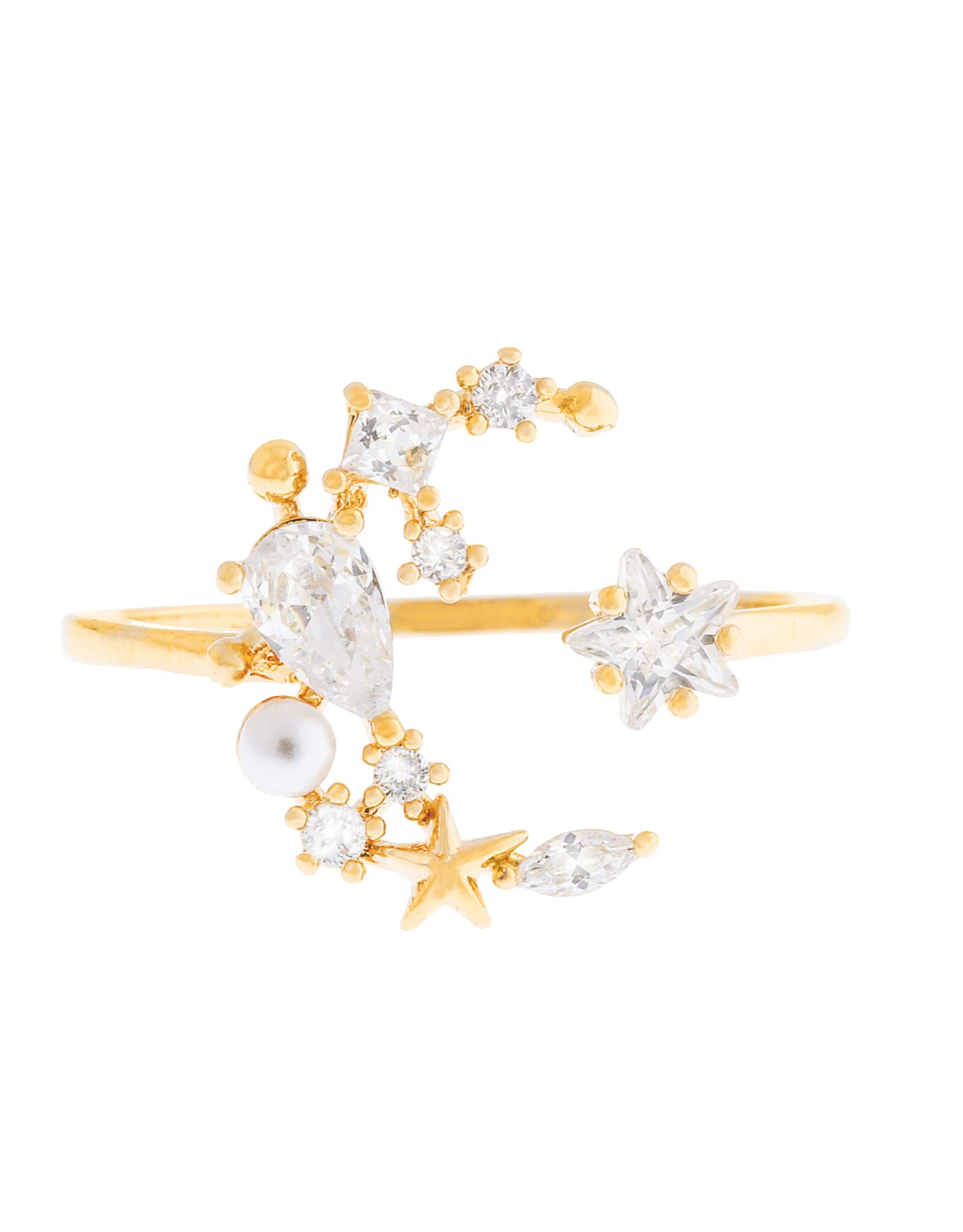 Girls Crew moonlight ring- gold