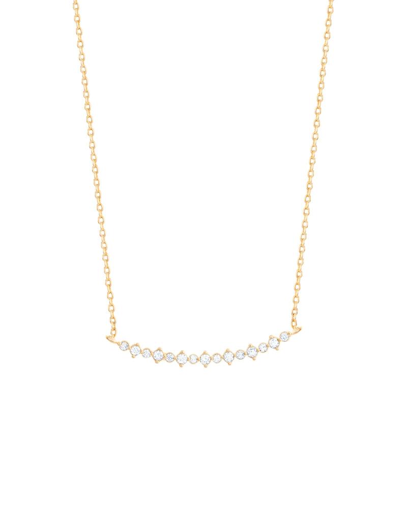 Girls Crew bar diamond necklace