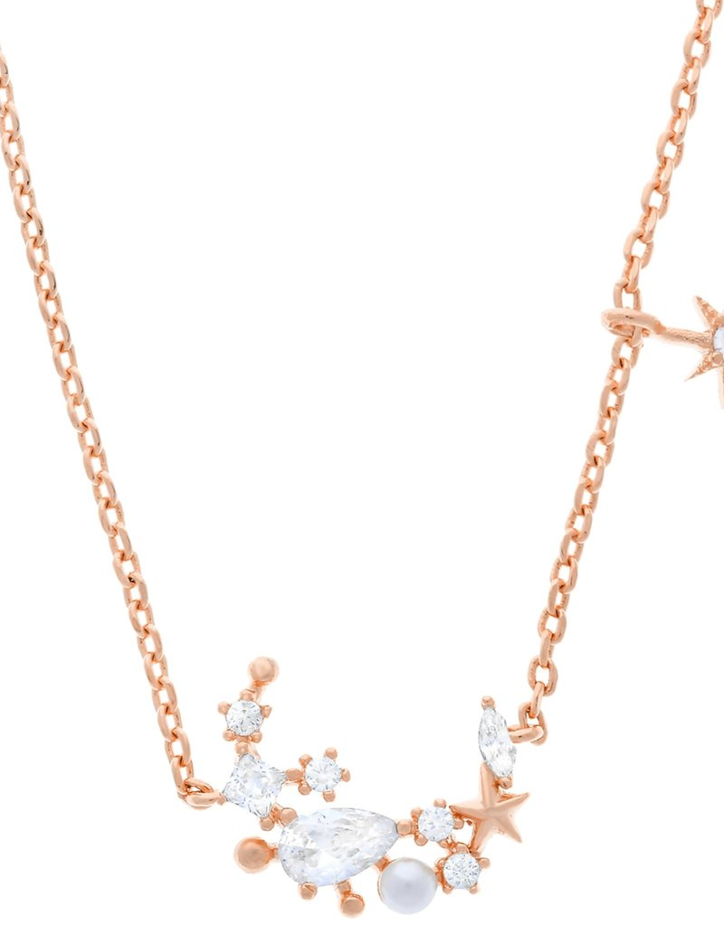 Girls Crew moonlight necklace- rose gold