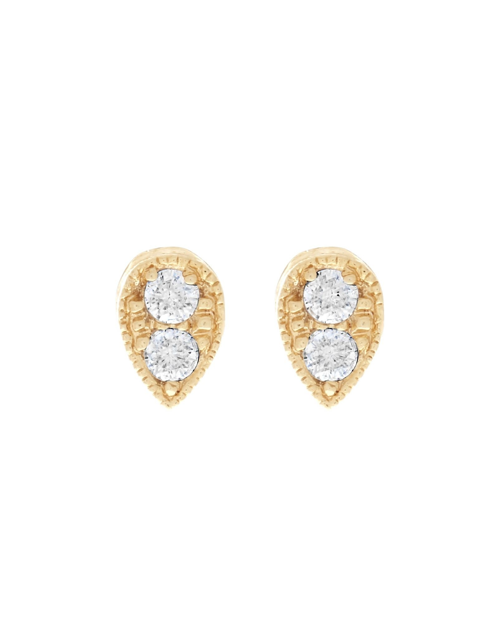 Girls Crew tear drop studs- gold