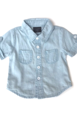Little Bipsy Collection denim button up- light wash