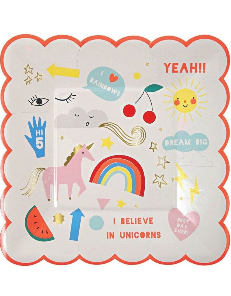 Meri Meri i believe in unicorns plates