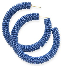 Ink + Alloy seed hoop earrings- lapis