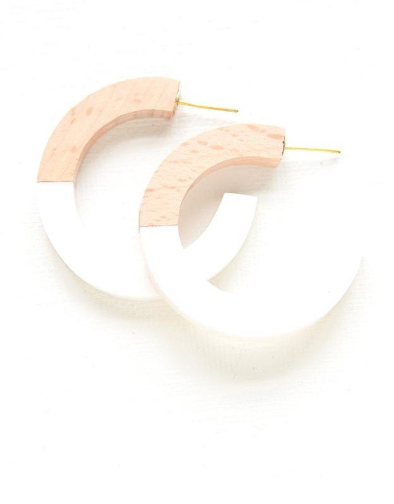 Ink + Alloy resin hoops- wood and white