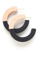 Ink + Alloy resin hoops- wood and black