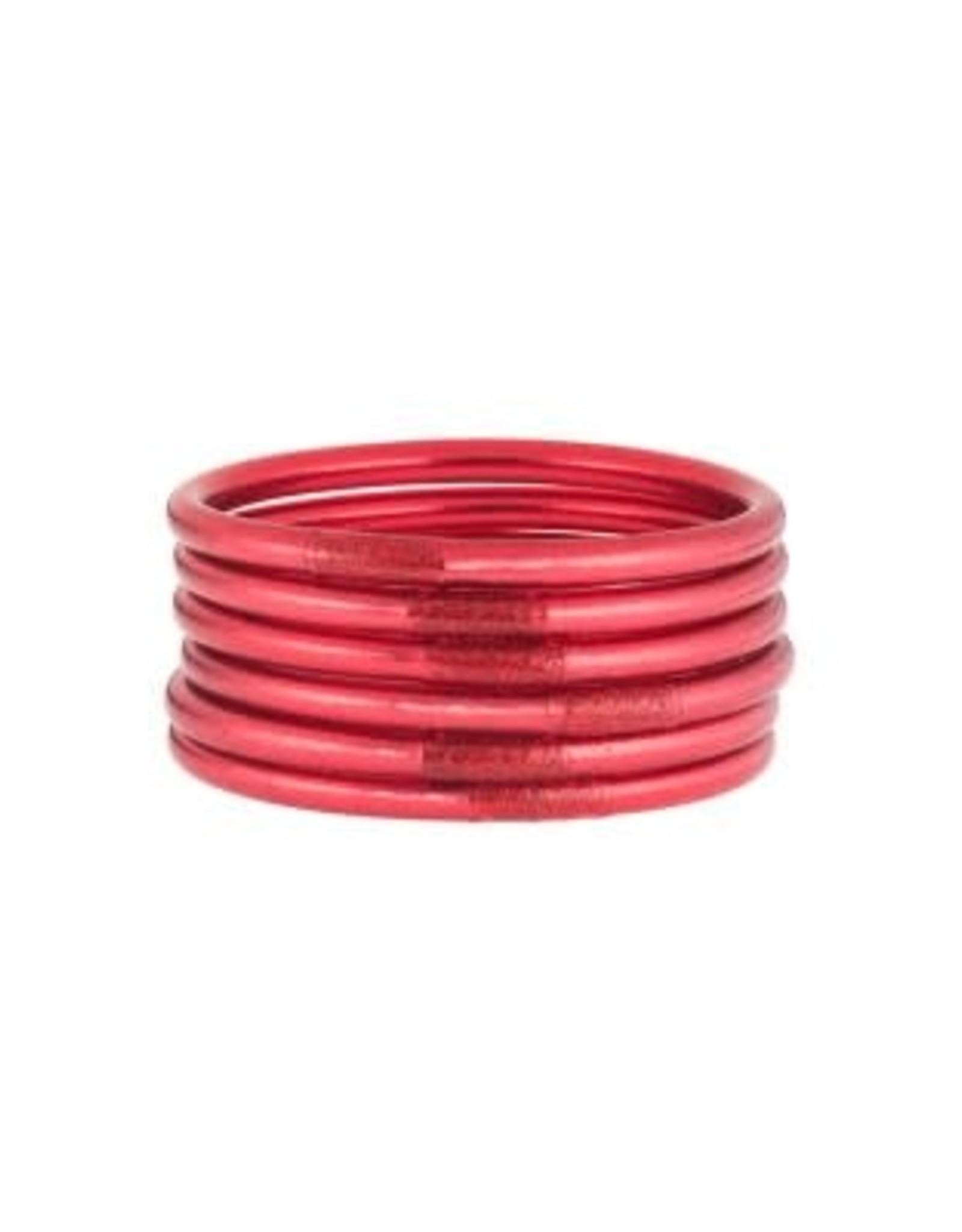 BuDhaGirl bangles (set of 6)- pink