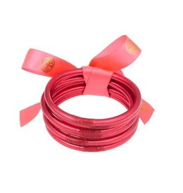 BuDhaGirl bangles (set of 6)- pink
