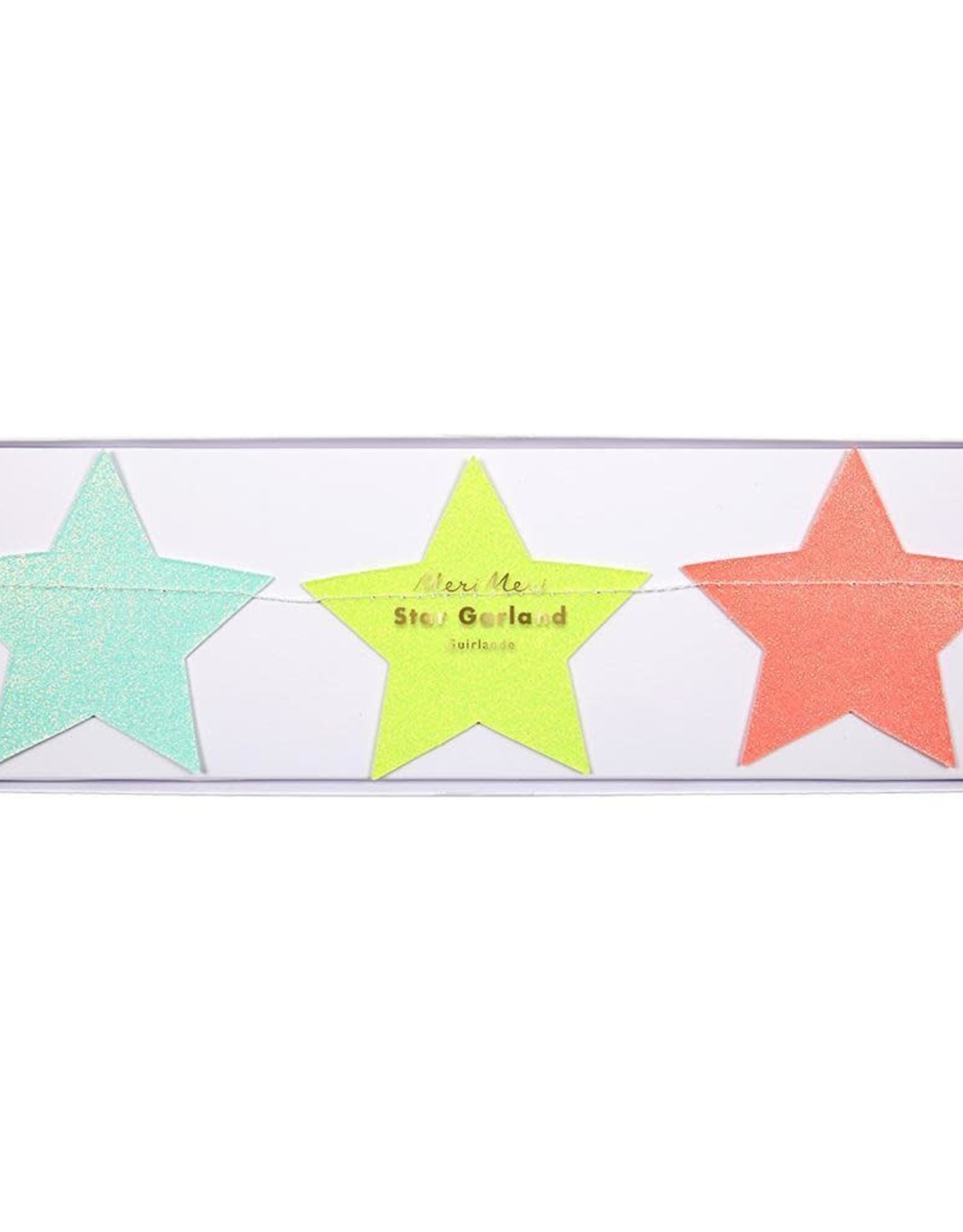 Meri Meri multi colored star garland