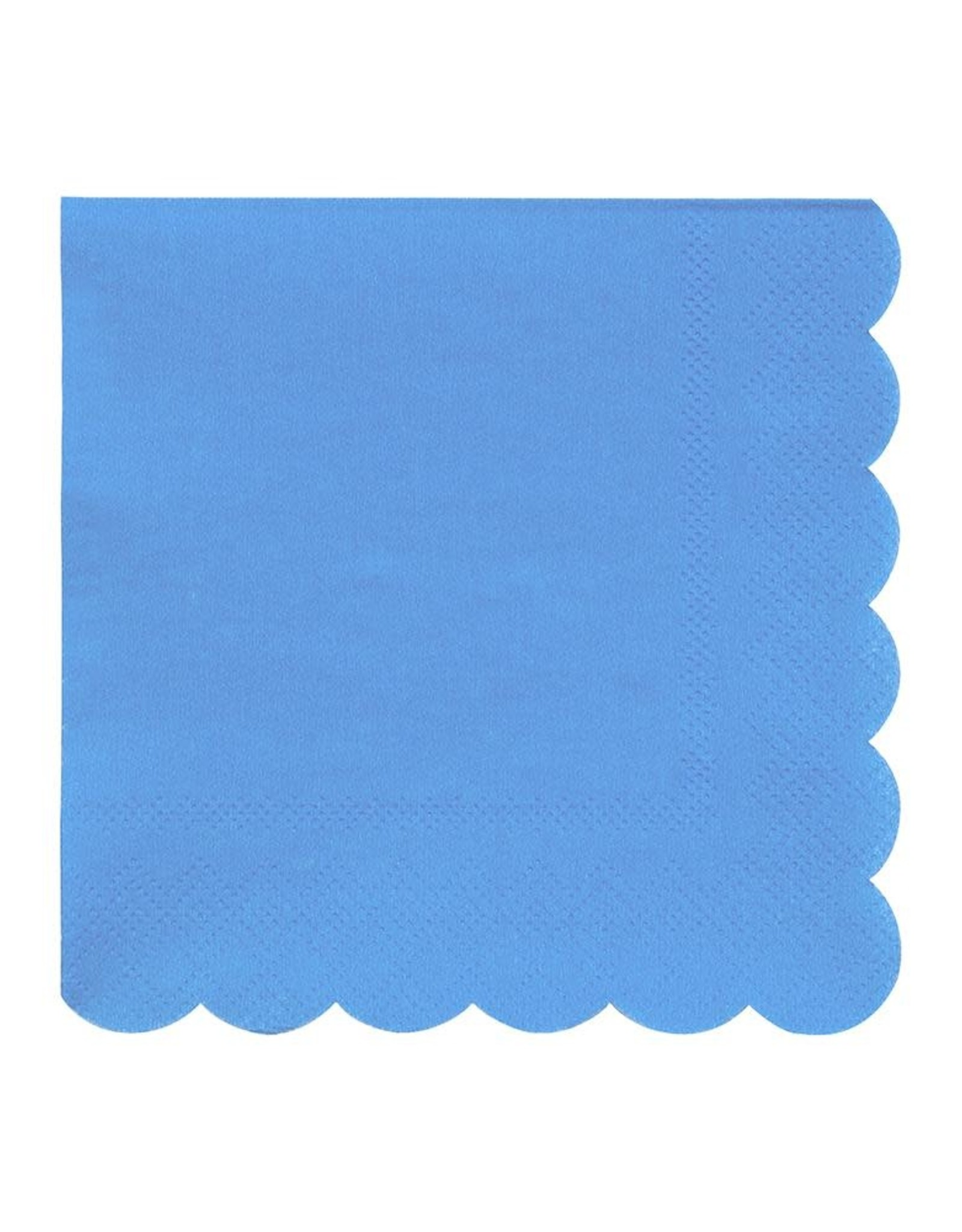 Meri Meri bright blue napkins- small