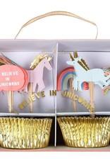 Meri Meri i believe in unicorns cupcake set