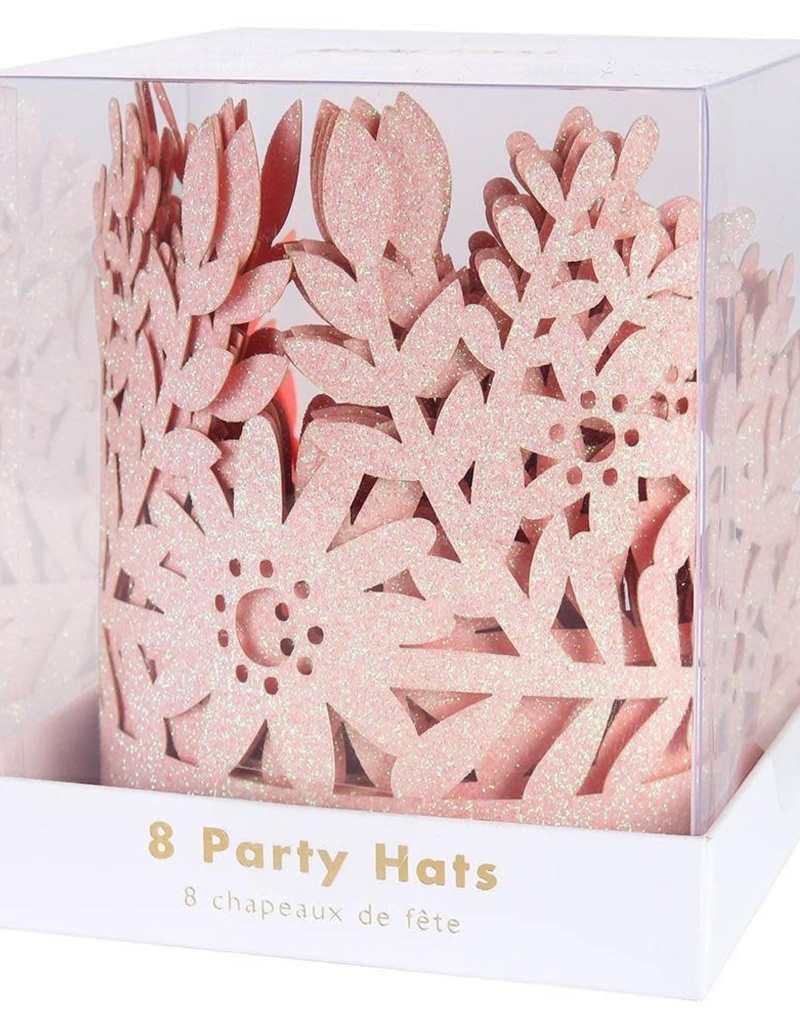 Meri Meri pink glitter crowns